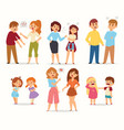 quarrel conflict stress couples character vector image