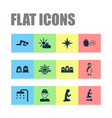 ramadan icons set collection of male nachmittag vector image vector image