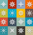 Retro Paper Snowflakes Set vector image vector image