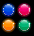 round circles shiny glass buttons in four colors vector image vector image