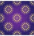 Seamless dark violet christmas pattern vector image