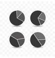 set pie chart icon simple flat style vector image