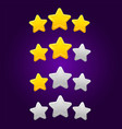 set star ratings for arcade mobile games vector image vector image
