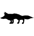 Silhouette of red fox vector image