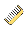 simple comb icon vector image vector image
