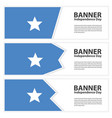 somalia flag banners collection independence day vector image vector image