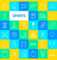 sports line icons vector image vector image