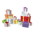 stacks of presents concept vector image vector image