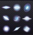 stars cluster transparent set vector image vector image