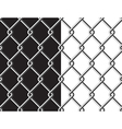 Steel mesh metalic fance black and white vector image vector image