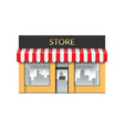 store front shop with empty showcase vector image vector image