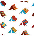 teepee tents seamless pattern background vector image vector image