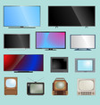 tv screen lcd monitor template vector image vector image