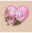 Valentines Day Party greeting card or Flyer vector image vector image