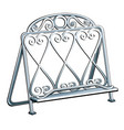 vintage wrought iron bookends isolated on a white vector image vector image
