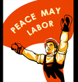 Workers Day poster vector image