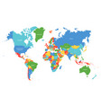 world map colorful map with countries vector image