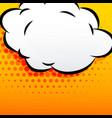 cartoon cloud comic style background vector image