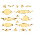 set of gold frames vector image