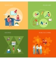 Reading People Set vector image