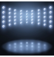 stage lights Abstract sparkling background vector image