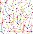 Lines and dots network vector image