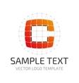 Template logo c vector image