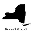 1283 new york city ny on new york state map vector image vector image