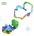 Abstract color map of Zambia vector image vector image
