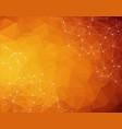 abstract polygonal dark orange background vector image vector image