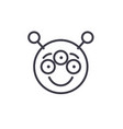 alien emoji concept line editable concept vector image vector image