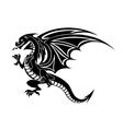 angry black dragon vector image