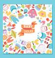 baby shower cartoon kids toys duck games vector image vector image