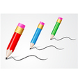 Back to School Concept writing with pencil vector image