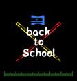 back to school set on black vector image vector image