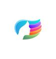 beautiful woman face hair vibrant gradient logo vector image