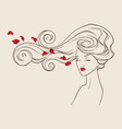 beauty salon design portrait pretty girl vector image vector image