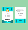 best id card 10 vector image vector image