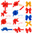 big collection gift bows vector image vector image