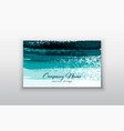 business card templates with brush stroke vector image