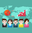 business people for teamwork success vector image vector image