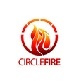 circle fire logo concept design symbol graphic vector image vector image