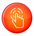 Click icon flat style vector image vector image