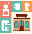 coffee shop restaurant business vector image