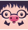Cute Icon Pig face with emotions Character vector image