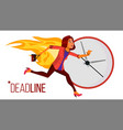 deadline concept stressed office people vector image