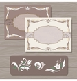 Decorative cards template vector image vector image