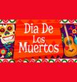 dia de los muertos mexican calavera skull ornament vector image vector image