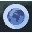 Digital planet earth icon vector image vector image