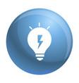 energy idea bulb icon simple style vector image